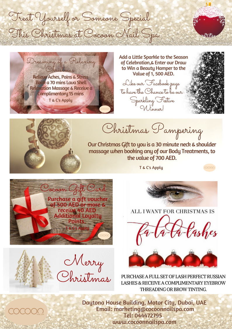 Christmas Spa Packages.Cocoon Nail Spatreat Yourself Or Someone Special This