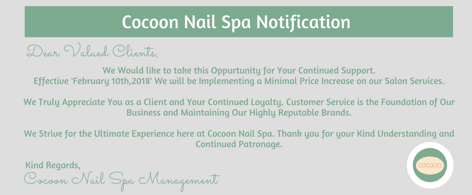 Cocoon Nail Spa notification