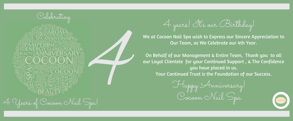 4 years cocoon nail spa